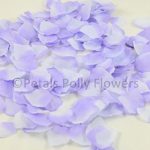 1000Pétales en soie lilas/rose artificielle, Confettis de mariage