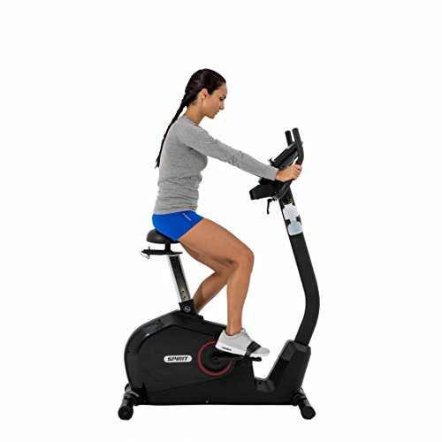 Spirit Upright Bike DBU 60 – Heimtrainer, Fitness Indoor Bike, Ergometer mit Hand-Puls-Sensoren - 3