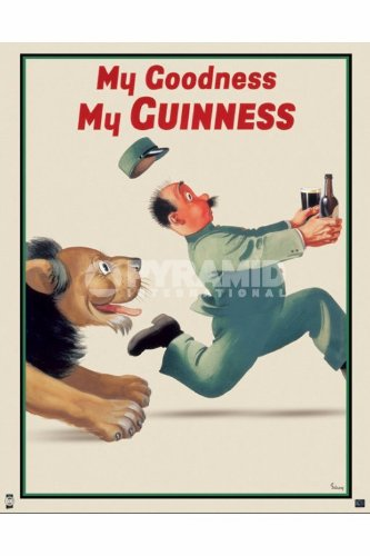 Elite*Posters Guinness Lionkeeper Anuncio de León Art Regular Póster de 40x 50cm