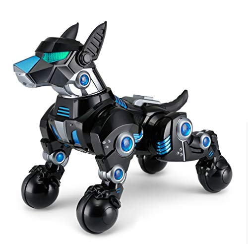 SJHFDICKJFIF Inteligente Mascotas Perro Robot,Juguetes Niños Radio Control Programable Bailar Cantar,Electronic Pet...