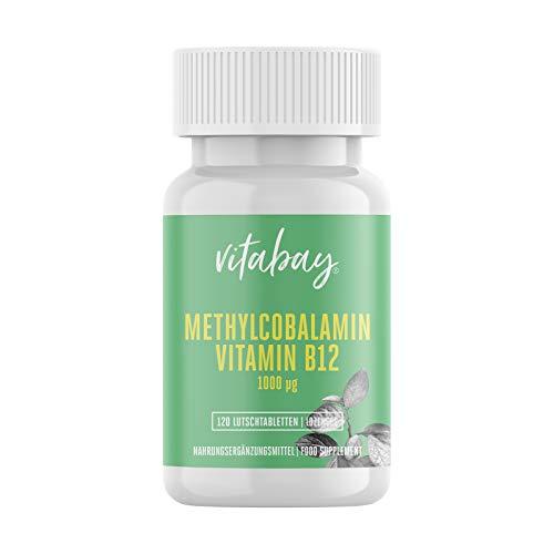 Methylcobalamin - 1000 mcg - Vitamin B12 - vegane Lutschtabletten (120 vegane Lutschtabletten)