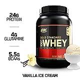 Optimum Nutrition Gold Standard Whey Protein Pulver (mit Glutamin und Aminosäuren. Eiweisspulver von ON) Vanilla Ice Cream, 29 Portionen, 0,9kg