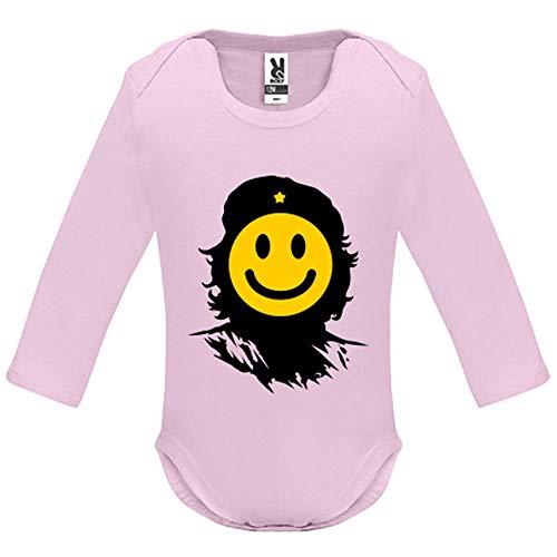 66373afc40ec3 Body bébé - Manche Longue - Che Smiley - Bébé Fille - Rose - 3MOIS