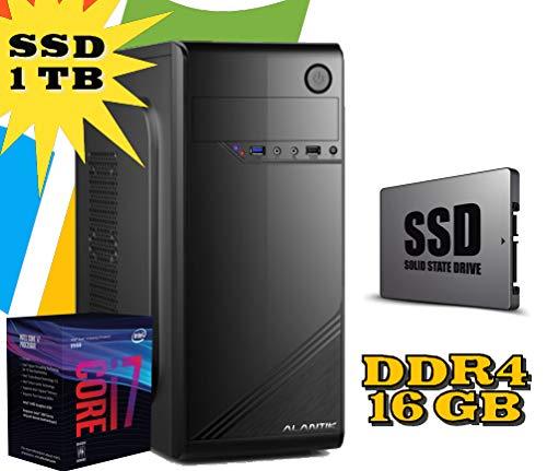 PC DESKTOP FISSO Intel i7 8700 / RAM 16GB DDR4 / SSD 1TB HD 1TB / wi fi / Masterizzatore / LICENZA WINDOWS 10