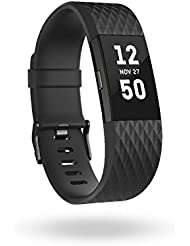Fitbit Charge 2 Édition Spéciale Bracelet D'activité Mixte Adulte, Noir/Anthracite, Taille L