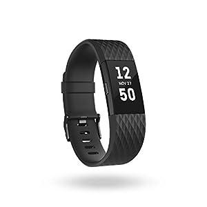Fitbit Charge 2 Special Edition Unisex Armband Zur Herzfrequenz und Fitnessaufzeichnung, Schwarz/Metallisches Blaugrau, S, FB407GMBKS-EU