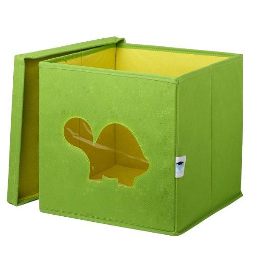 *STORE.IT Spielzeugkiste mit Sichtfenster | Schildkröte| 30x30x30cm | grün*