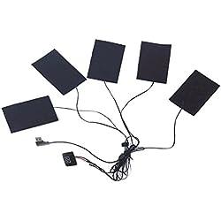Beatie USB 1-for-5Chauffage électrique thermique Vêtements de Veste chauffante pour Winter Sports de plein air