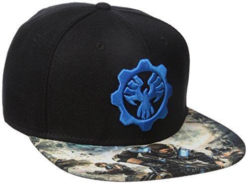 Bioworld Mens Gears of War 4 Snapback Cap Baseball Cap - Black -