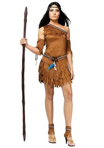 Fun World Indianer-Kostüm für Damen, sexy, Pow Wow (Indian Chief Kostüm Zubehör)