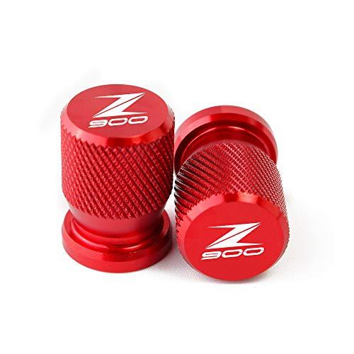 BXMoto Tapas de Válvulas de la válvula del neumático del Estilo Redondo para Kawasaki Z650 Z750 Z800 Z900 Z1000 ZX6R ZX10R ZX14R