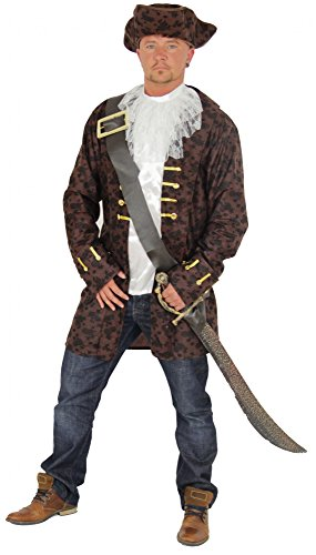 Foxxeo 40174, Elegant Pirate Costume for Men - Size M, L, XL, XXL and XXXL Pirate Costume Carnival Pirate Sea Robber Pirates