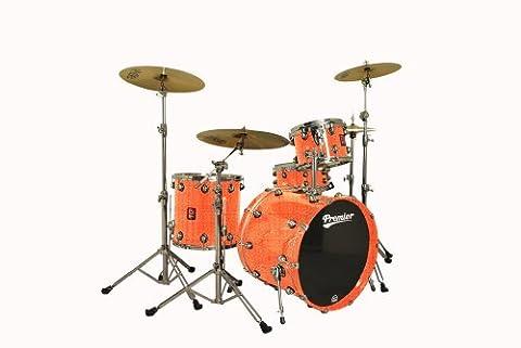 Premier Drums Genista Series 4288476OSX 4-Piece Maple Modern Legend 20 Shell Pack, Drum Set (Burnt Orange
