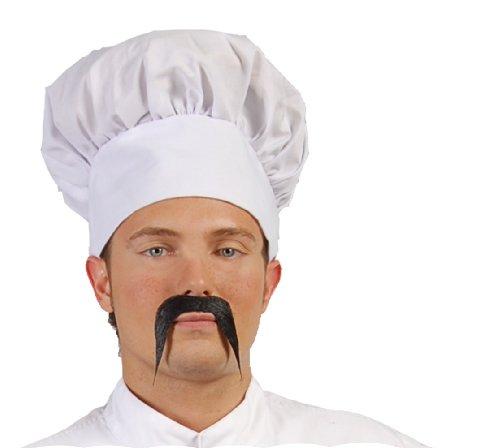 Chinesischer Schnurrbart in schwarz zum (Kostüm Koch Asiatische)
