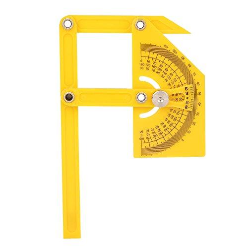 Dewin Goniometer - 180 Grad Winkelmesser, Winkelsucher, Gehrungslehrenarm, Messlineal