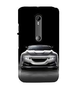 FUSON White Metalic Sports Car 3D Hard Polycarbonate Designer Back Case Cover for Motorola Moto G3 :: Motorola Moto G (3rd Gen) :: Motorola Moto G3 Dual SIM