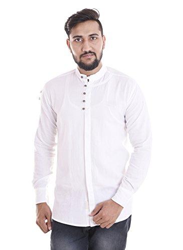 VERO LIE Men's Casual Shirt_VR-ST43-L_White_L