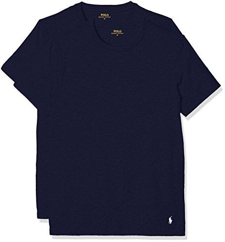 Polo Ralph Lauren Herren T-Shirt Classic, 2er Pack, Blau (2Pk Navy/Navy 004), Medium (Navy Classic Logo T-shirt)