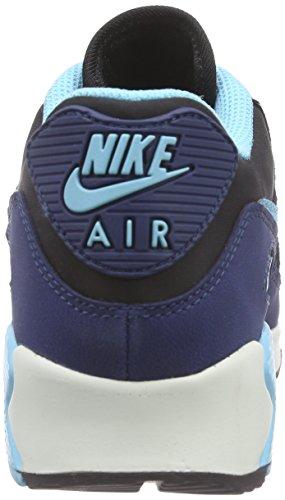 Nike  WMNS AIR MAX 90 LTHR, Sneakers Basses femme Bleu/Noir