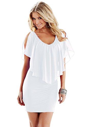 42421a795f1fe Nuovo donne rosso spaghetti strap Open Back Bodycon Dress Club party Wear  taglia M UK 10