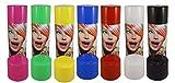 7x Haarspray Colour 250ml Farbe SCHWARZ, WEIß, ROT, GRÜN, PINK, GELB, BLAU