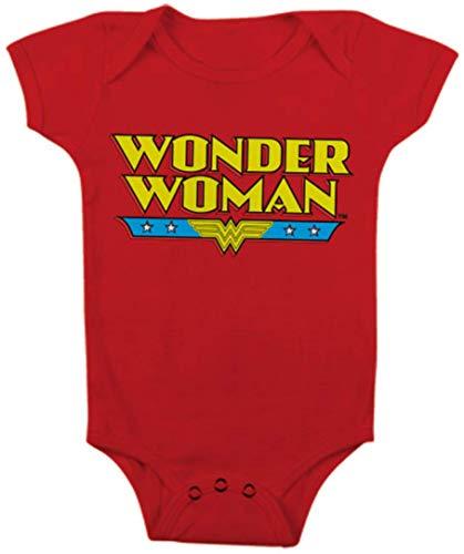 DC Comics Schlafstrampler Wonder Woman Classic Logo Offiziell Babies Nue Rot