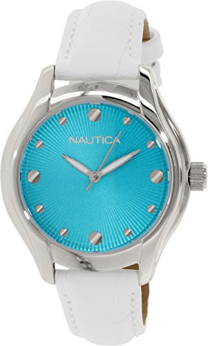 Nautica Women's N10509M White Leather Quartz Watch