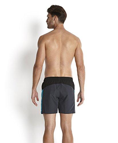 Speedo Sports Splice Short de bain Homme Gris Oxydé/Noir/Aquarium