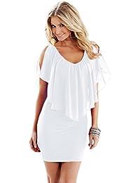 f73b9728ff3a Nuovo donne rosso spaghetti strap Open Back Bodycon Dress Club party Wear  taglia M UK 10