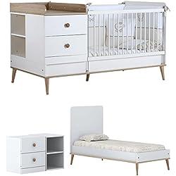 Baby Cama Cuna con cambiador Liva/el fin de mitwachs Baby Cama Infantil/7años de garantía