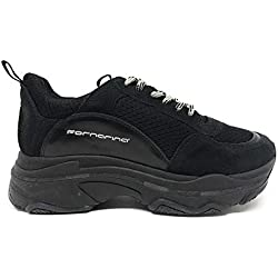 Fornarina Super Sneaker Total Black (38, Nero)