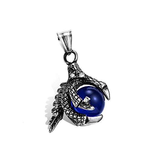 SDFGH O\'M\'Edelsteine, Armbrust, Drachen, Anhänger, Titanium, Altmetall, Diamanten, Perlen, Perlen, Die Nicht Verblasst Sind. Blaue Perlentauchnummer D13-05/2