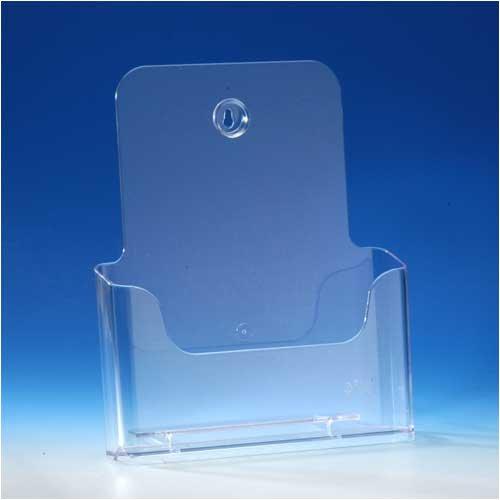 VITAdisplays DIN A4 Prospekthalter / Prospektständer, Transparent (NE-230)
