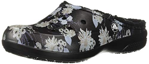 2320d9ec6aa0b4 Crocs Women's Freesail Floral Lined Clog | Indoor Outdoor Warm and Fuzzy  Shoe or Slipper