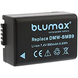 Blumax Batterie pour Panasonic dmc-bmb9/dmw-bmb9e 890mAh compatible avec Panasonic Lumix DMC-FZ40fz82FZ45FZ47fz48FZ60FZ62fz70FZ72FZ100FZ150Leica V-Lux 2/3