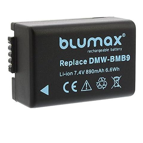 Blumax Akku für Panasonic DMW-BMB9 / DMW-BMB9E 890mAh kompatibel mit Panasonic Lumix DMC-FZ40 FZ82 FZ45 FZ47 FZ48 FZ60 FZ62 FZ70 FZ72 FZ100 FZ150 Leica V-LUX 2 / (100% Original-ersatz)