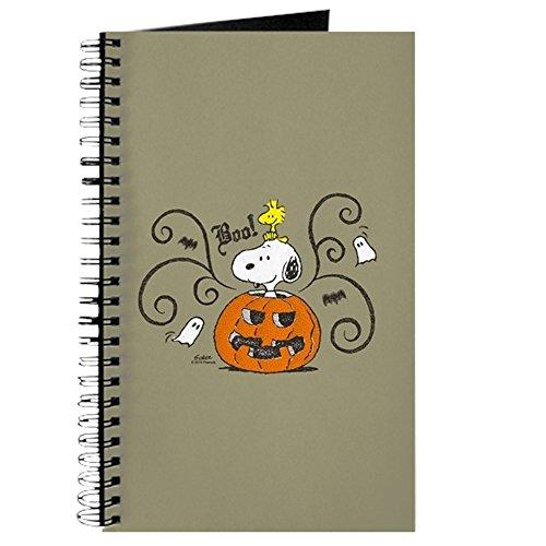 CafePress-Peanuts Snoopy Sketch Kürbis-Spiralbindung Journal Notebook, persönliches Tagebuch, Aufgabe Tagebuch