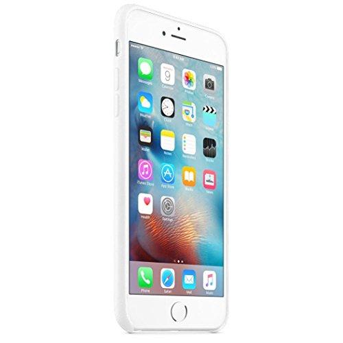For iPhone 6 Plus / 6S Plus Hülle, Ouneed Ultra-dünne Luxury glatte Scrub Leder Stoßstange Fall-Abdeckung Bumper Case Cover Hülle für iPhone 6 Plus/6S Plus(5,5 Zoll) (Grau) Weiß