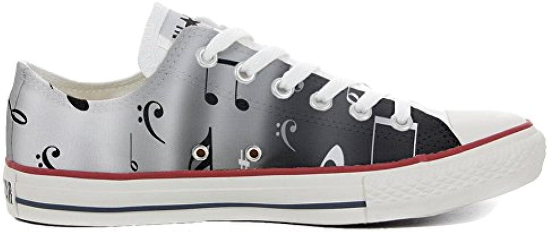 Shoes Custom Converse All Star  personalisierte Schuhe (Handwerk Produkt) Musical Notes