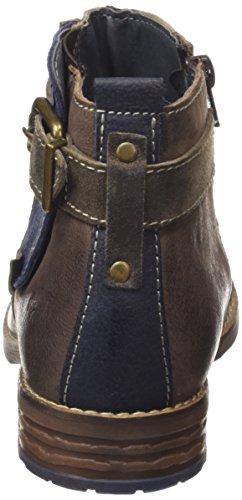 Mustang Damen Kurzschaft Stiefel Mehrfarbig (926 schwarz / kaffee / blau)