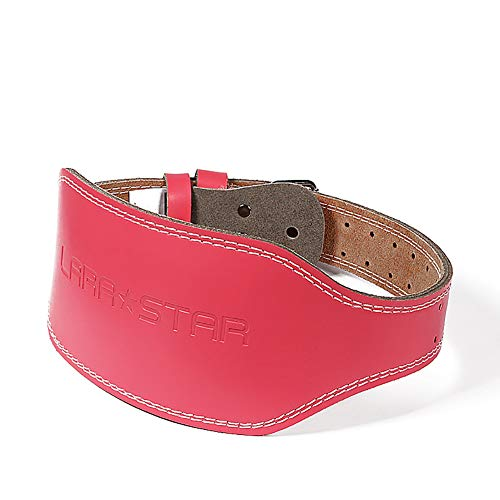 ZSYGRMR Gewichthebergürtel Echtes Leder Schnalle stabile Unterstützung des unteren Rückens zum Gewichtheben-Pink-XL