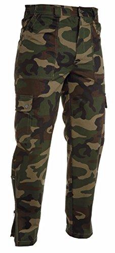 CHEMAGLIETTE! Pantaloni Mimetici Da Lavoro Multistagione Cotone Payper Usair Caccia Softair, Colore: Mimetico, Taglia: XL