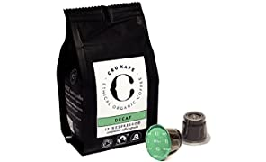 CRU Kafe Nespresso Compatible Capsules Organic Fairtrade Coffee - Decaffeinated (48 Pods)