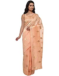Talking Threads Silk Saree with Blouse Piece (TT-5480SA_Peach_Free Size)