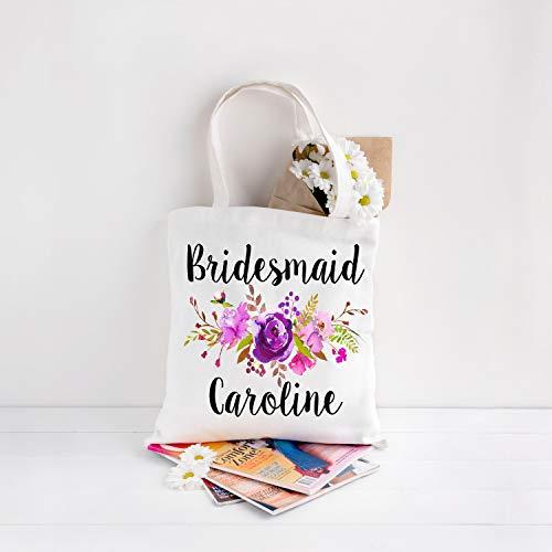 Personalisierte Tragetasche für Brautjungfer, Geschenk für Brautjungfer - Große Wickeltasche Personalisierte