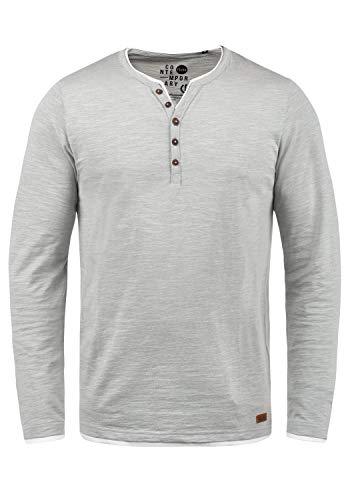 !Solid Belagos Herren Grandad Longsleeve Langarmshirt Aus 100% Baumwolle, Größe:XL, Farbe:Monument (2545)