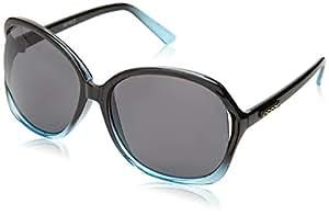 Ocean Sunglasses - Camber - lunettes de soleil polarisées  - Monture : Noir Laqué/Bleu Laqué - Verres : Fumée (18170.2)