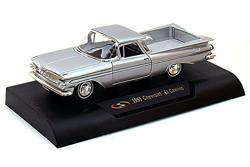 1959 Chevy El Camino Pickup Truck, Silver - Signature Models 32438 - 1/32 Scale Diecast Model Toy Car by Signature Models