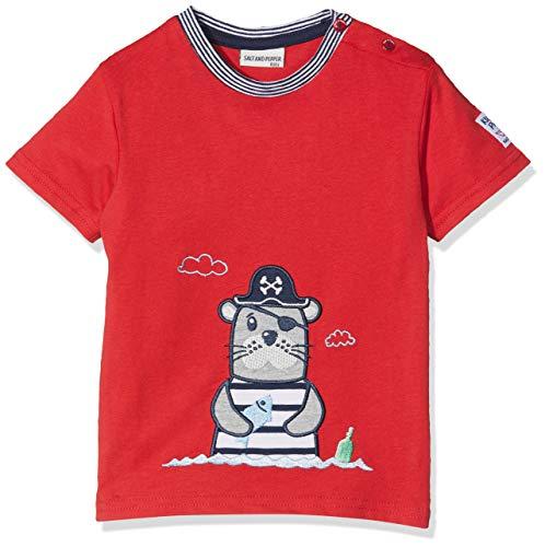 SALT AND PEPPER Baby-Jungen T-Shirt B Pirat Uni Robbe, Rot (Red 358) 86 -