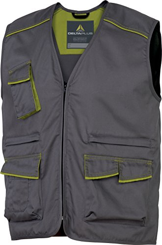 Panoply M6 Panostyle lavoro gilet gilet leggero senza cuciture uniforme Grey With Green Trim Small